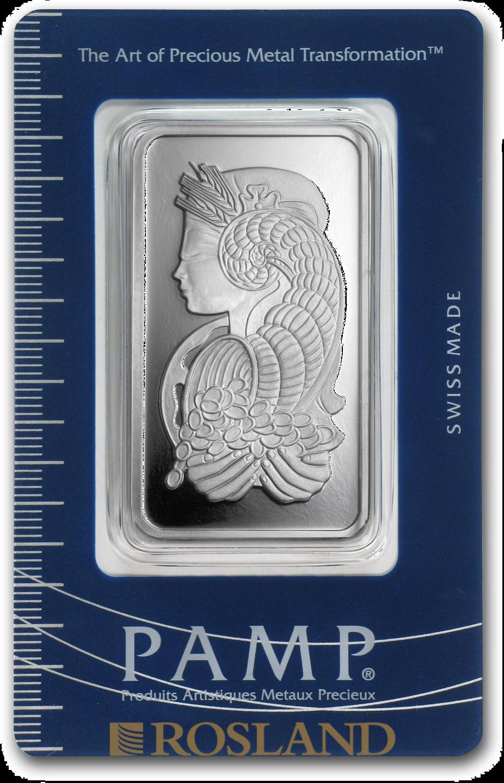 50 Gramm Silberbarren PAMP Lady Fortuna Veriscan®