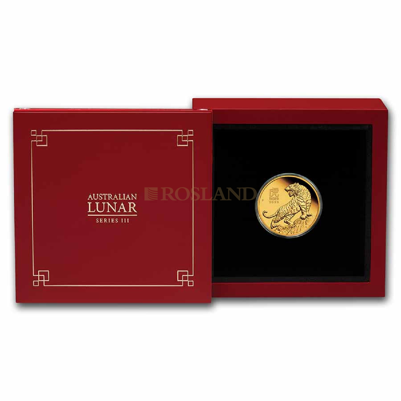 1/4 Unze Goldmünze Lunar 3 Tiger 2022 PP (Box, Zertifikat)