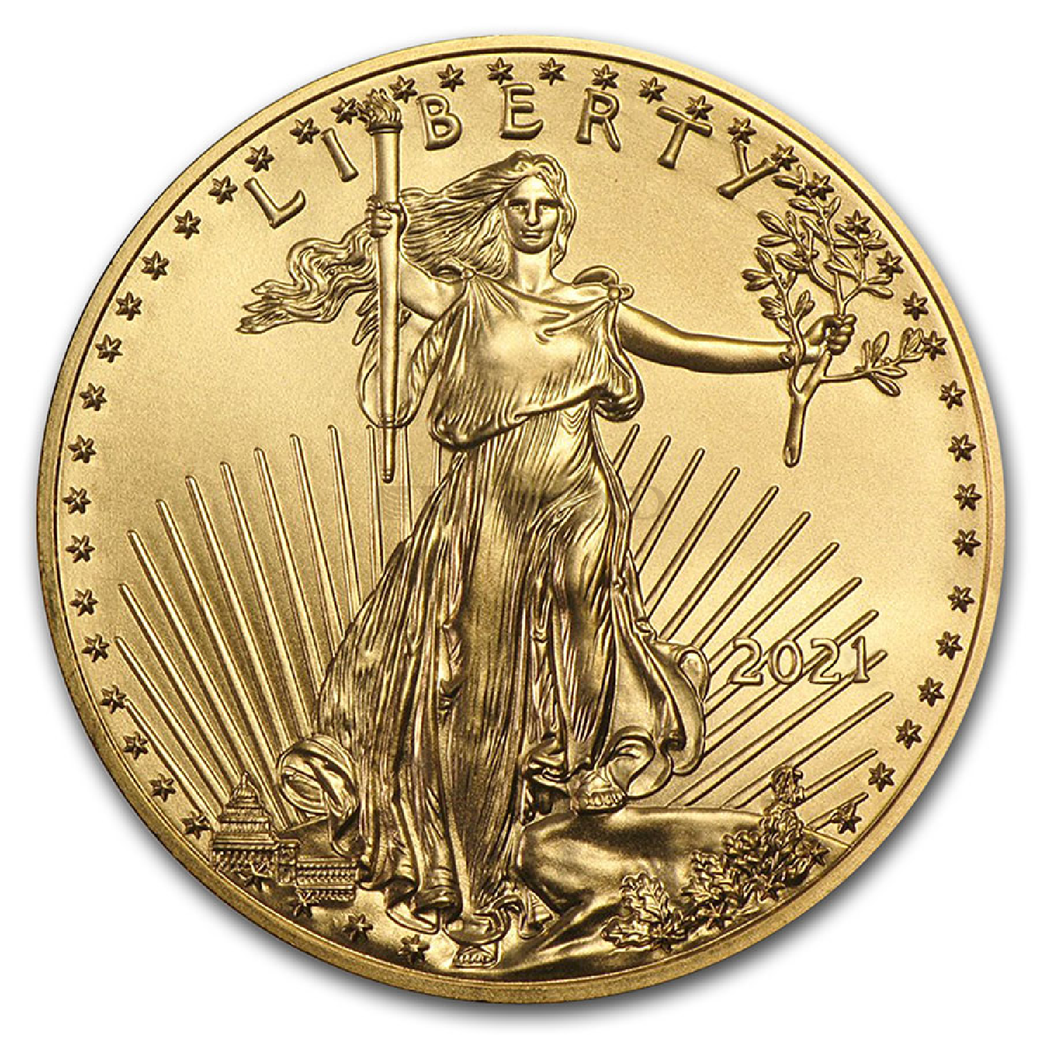 1/10 Unze Goldmünze American Eagle 2021