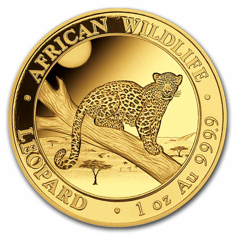 1 Unze Goldmünze Somalia Leopard 2021