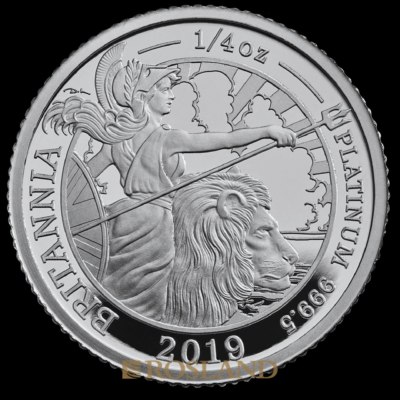 1/4 Unze Platinmünze Britannia 2019 PP (Box, Zertifikat)