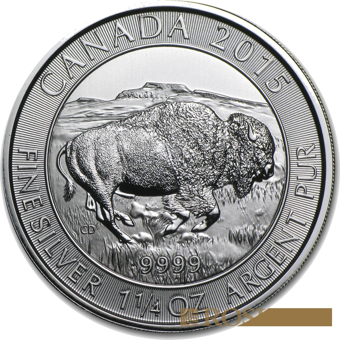 1.25 Unzen Silbermünze Canada Bison 2015