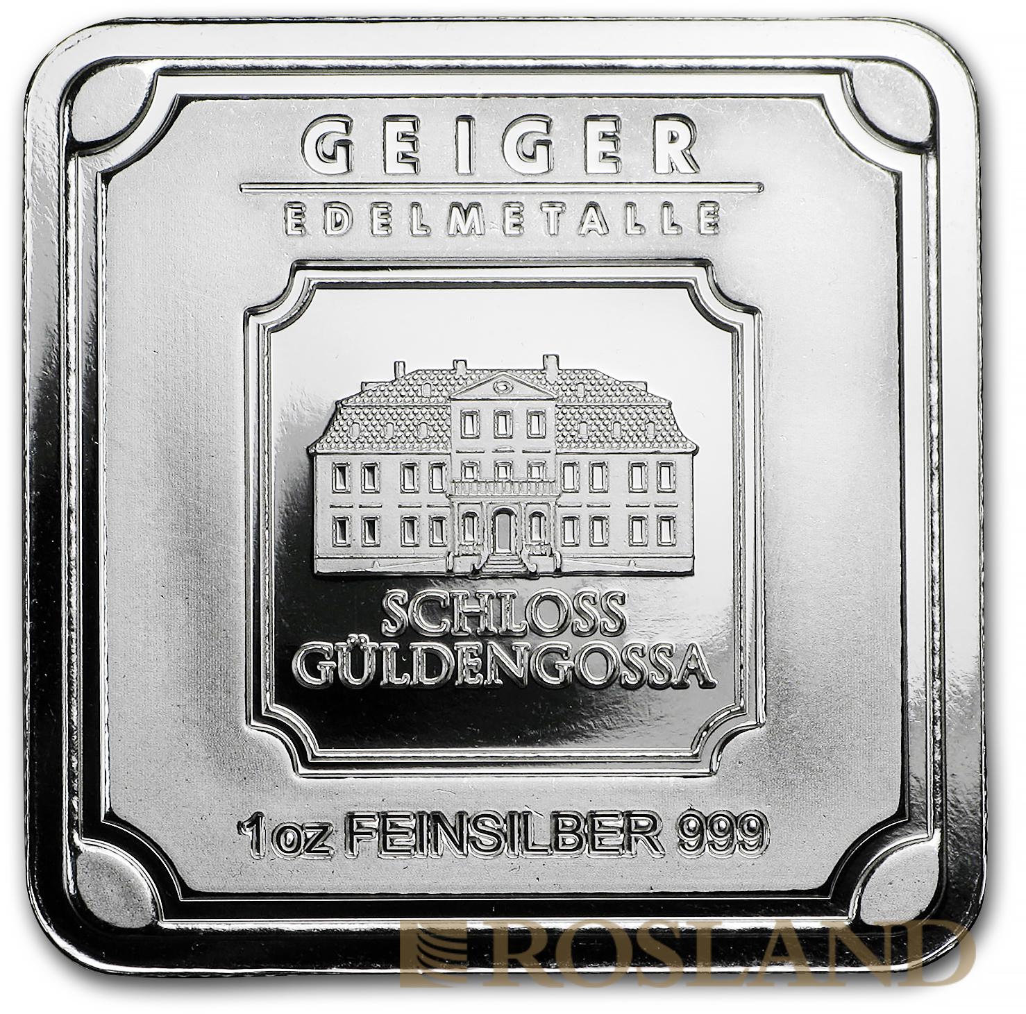 1 Unze Silberbarren Geiger Edelmetalle Square Series