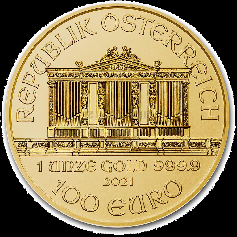 1 Unze Goldmünze Wiener Philharmoniker 2021