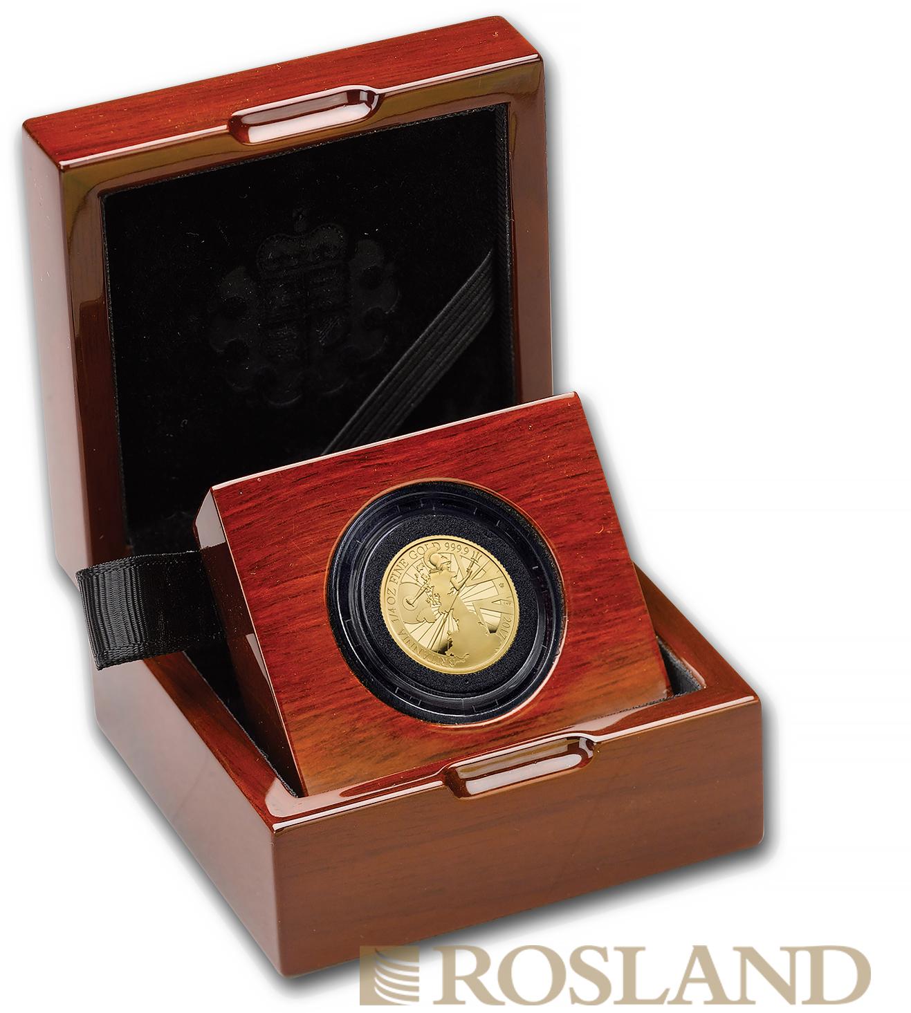1/4 Unze Goldmünze Britannia 2017 PP (Box, Zertifikat)