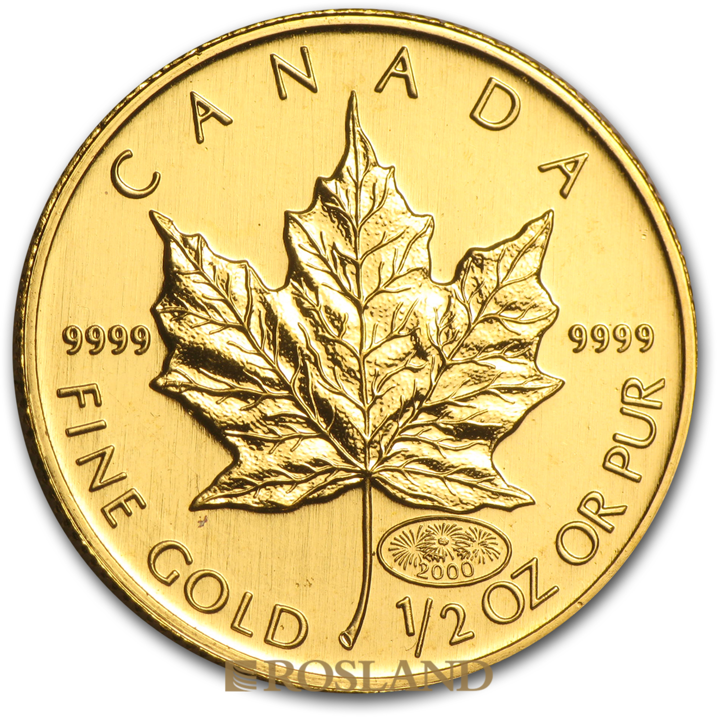 1/2 Unze Goldmünze Kanada Maple Leaf 2000 (Millenium Privy)