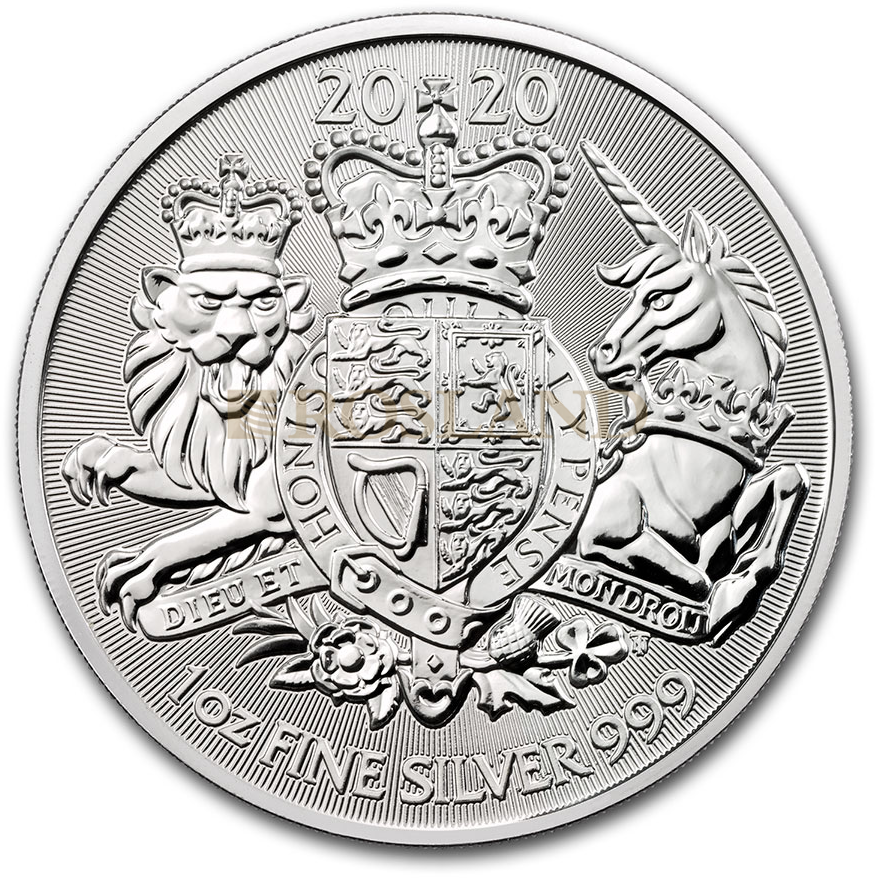 1 Unze Silbermünze Great Britain The Royal Arms 2020