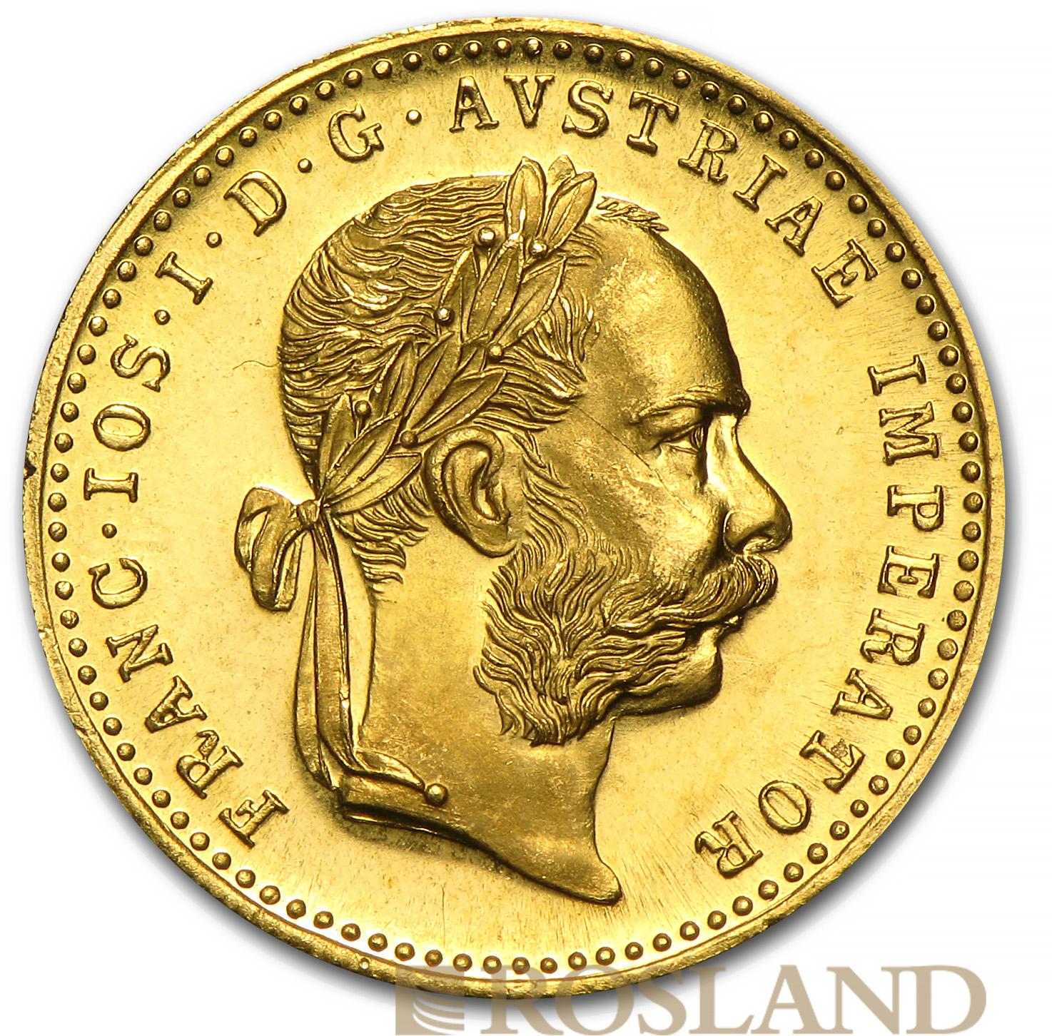 1 Gold-Dukat Münze Österreich 1915 Prooflike