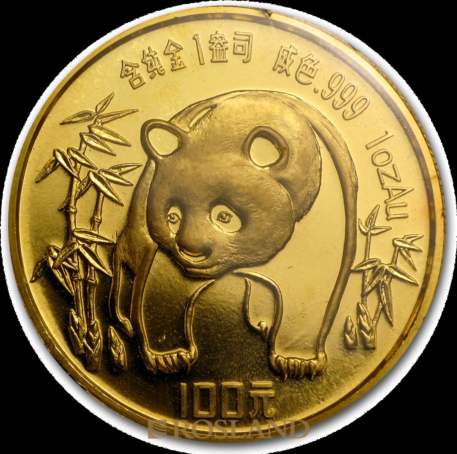 1 Unze Goldmünze China Panda 1986