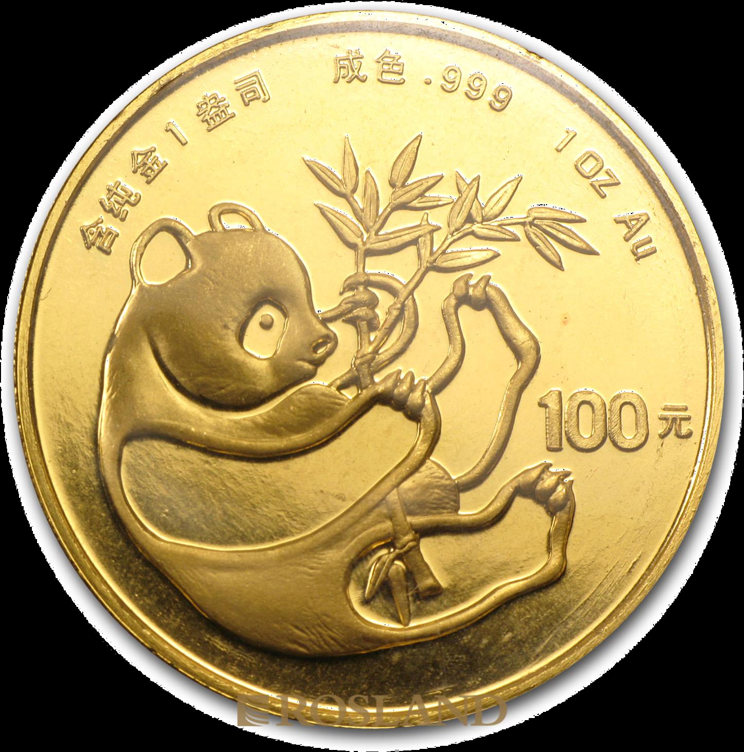 1 Unze Goldmünze China Panda 1984
