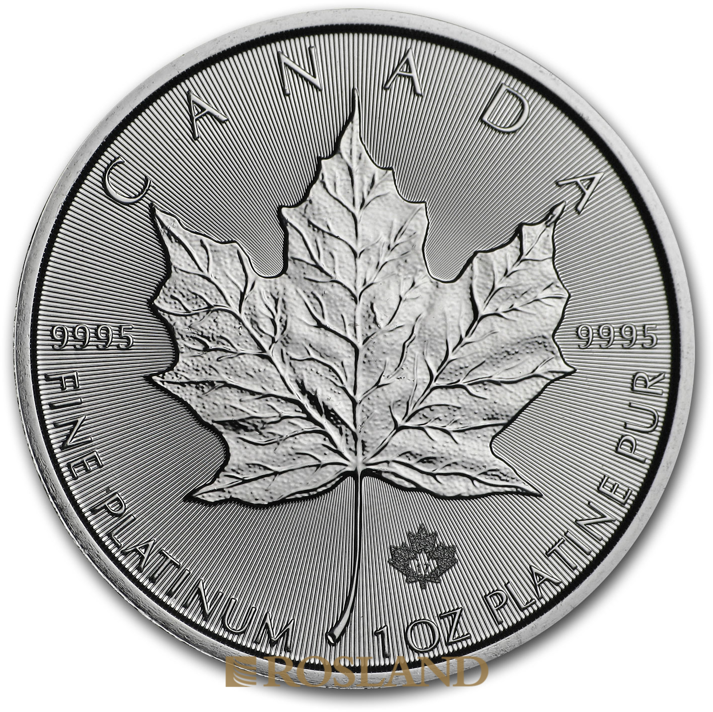 1 Unze Platinmünze Kanada Maple Leaf 2017