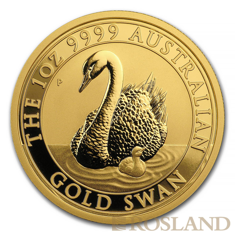 1 Unze Goldmünze Australien Schwan 2018
