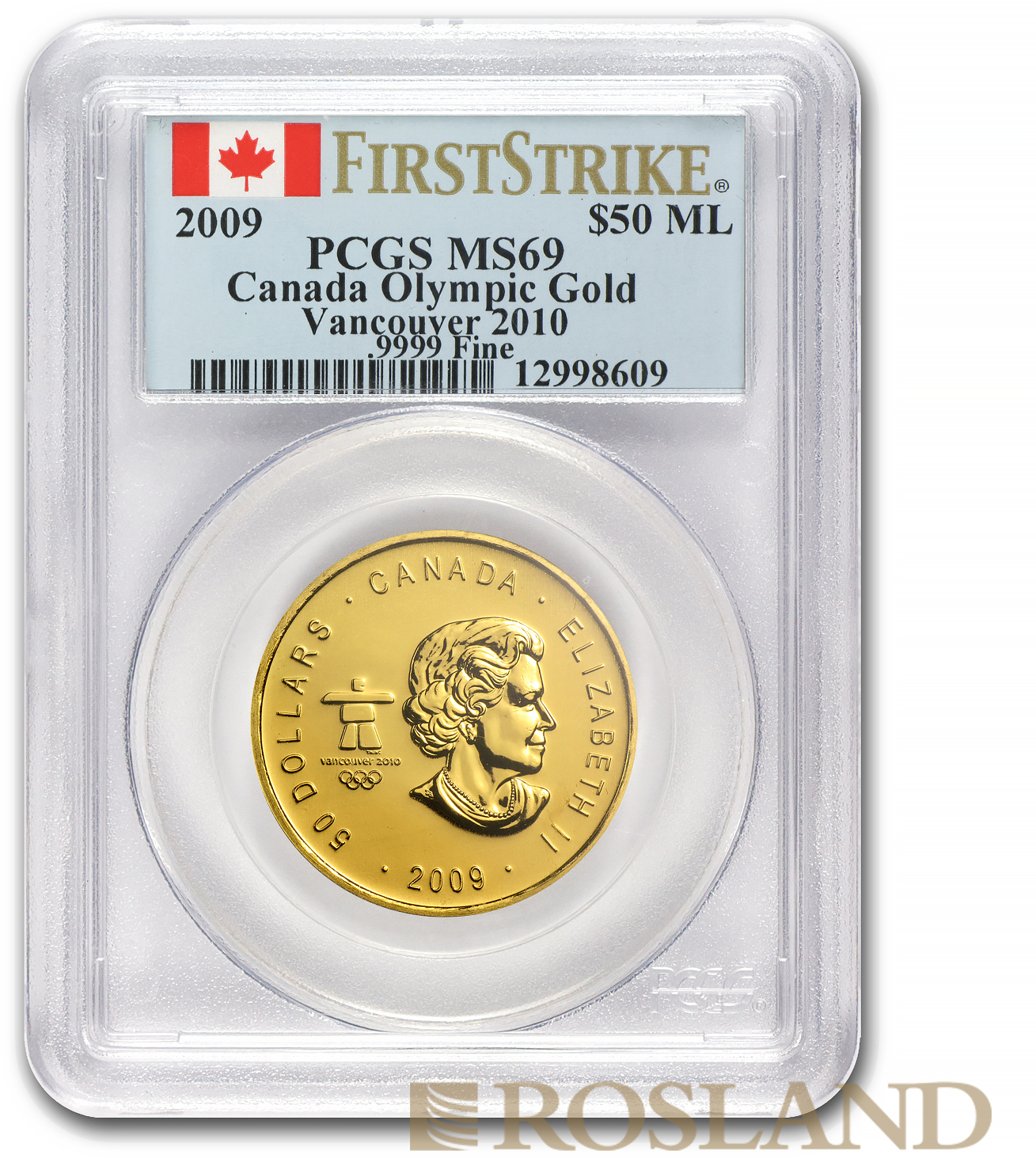 1 Unze Goldmünze Kanada Maple Leaf 2009 PCGS MS-69 Vancouver FS
