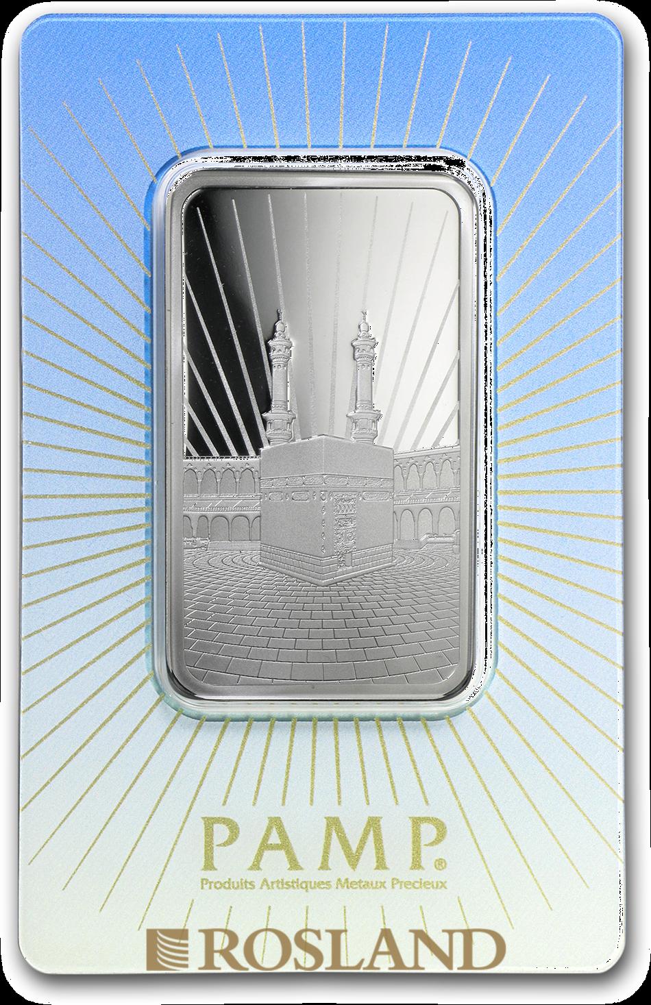 1 Unze Silberbarren PAMP Religion - Ka' Bah Mecca