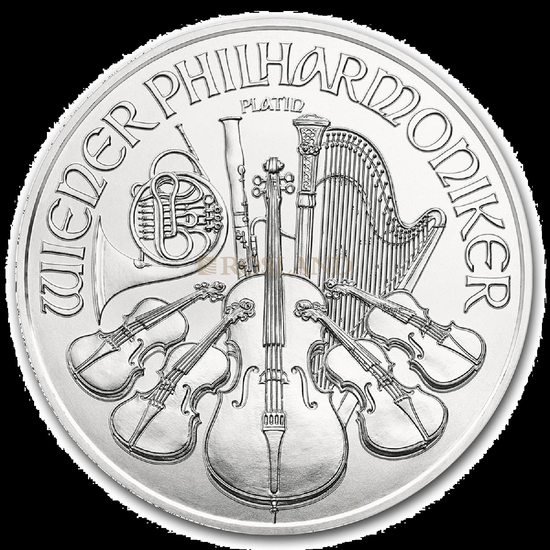 1 Unze Platinmünze Wiener Philharmoniker 2021