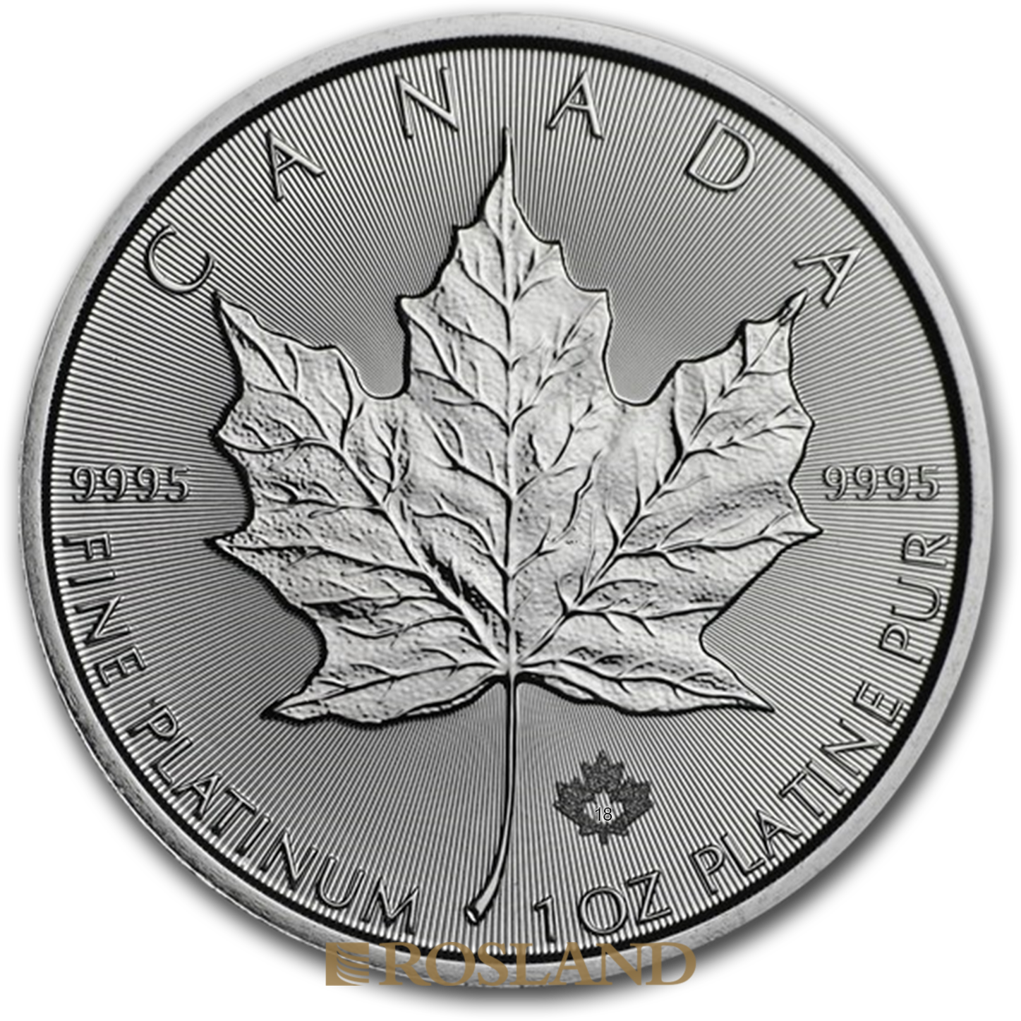 1 Unze Platinmünze Kanada Maple Leaf 2018