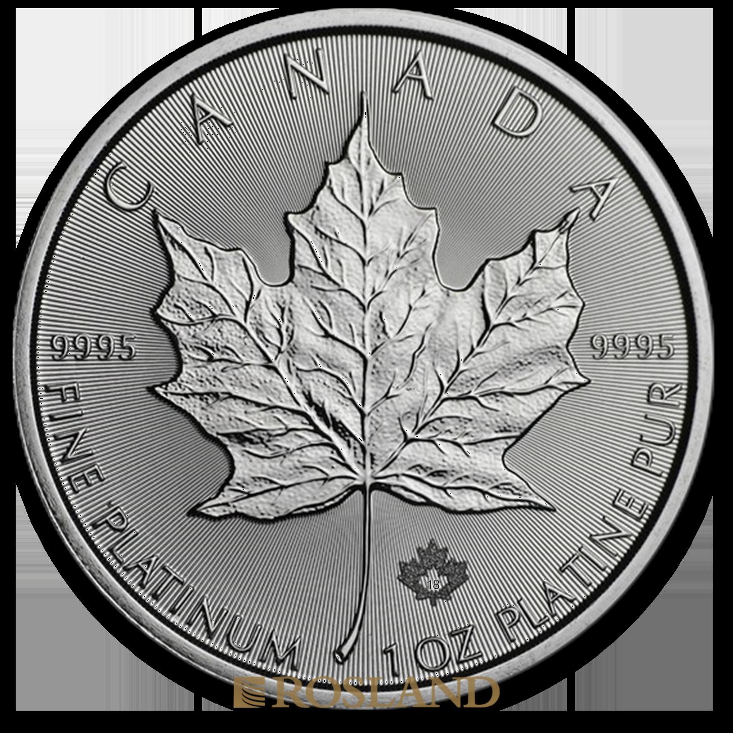 1 Unze Platinmünze Kanada Maple Leaf 2018