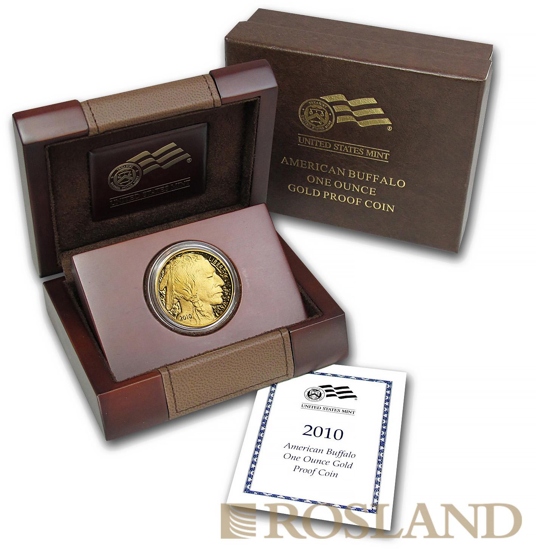 1 Unze Goldmünze American Buffalo 2010 PP (Box, Zertifikat)