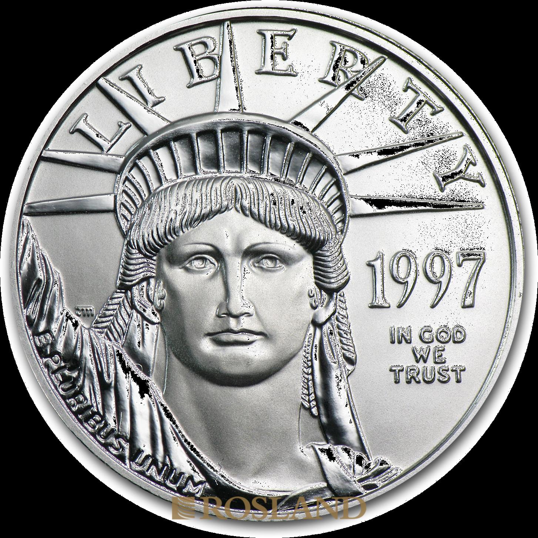 1/2 Unze Platinmünze American Eagle 1997