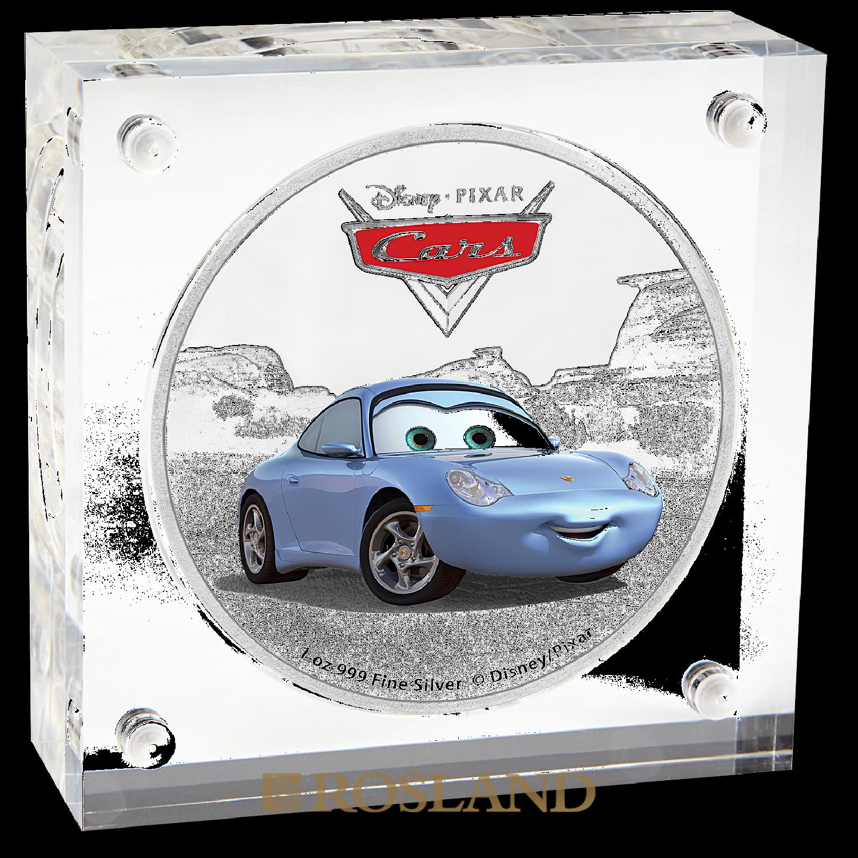 1 Unze Silbermünze Niue Disney® Cars Sally 2017 (Koloriert, Box)