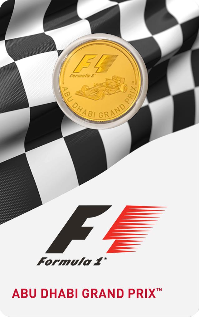 1/4 Unze Goldmünze Formel 1® Abu Dhabi GP™ 2016 PP (Box, Zertifikat)