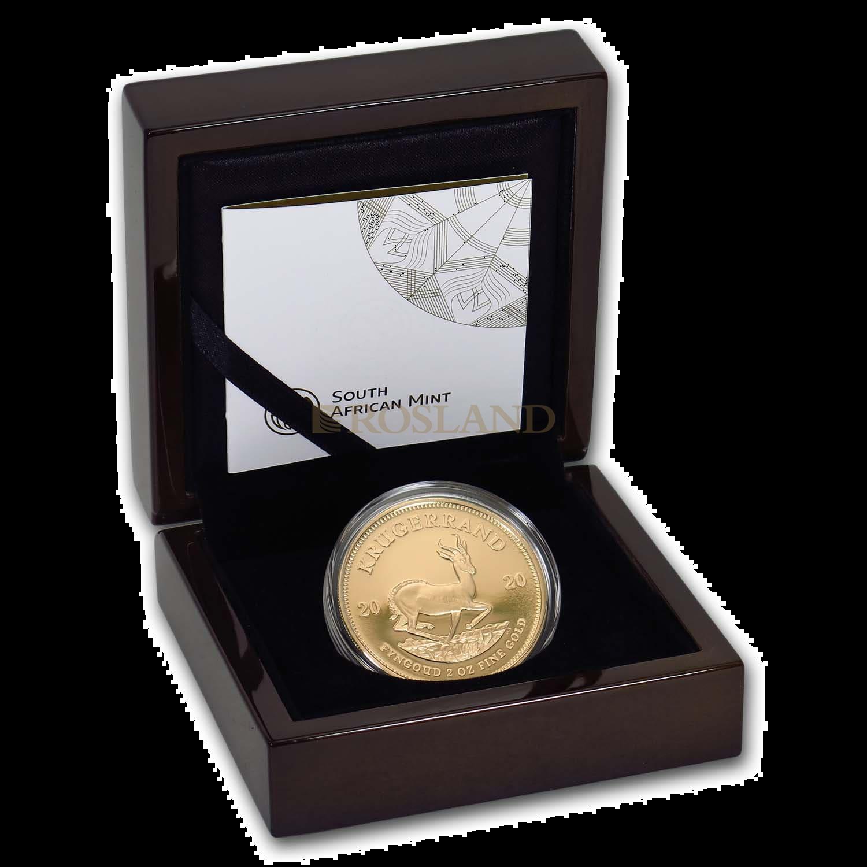 2 Unzen Goldmünze Krügerrand 2020 PP (Box, Zertifikat)