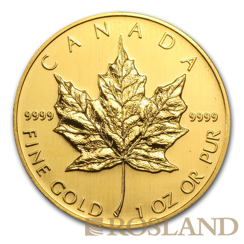 1 Unze Goldmünze Kanada Maple Leaf 2005