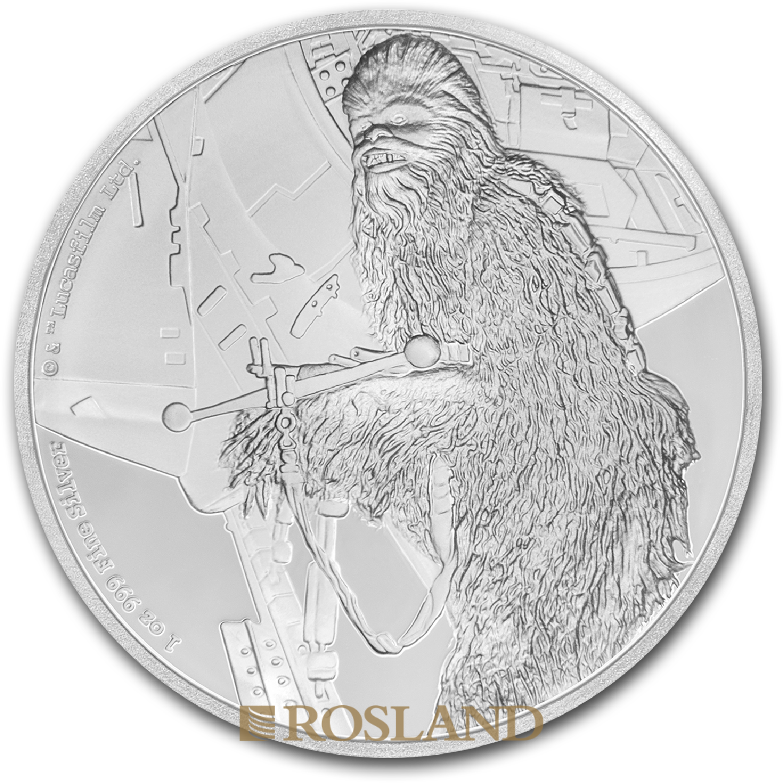 1 Unze Silbermünze Star Wars™ Chewbacca 2017 PP (Box, Zertifikat)