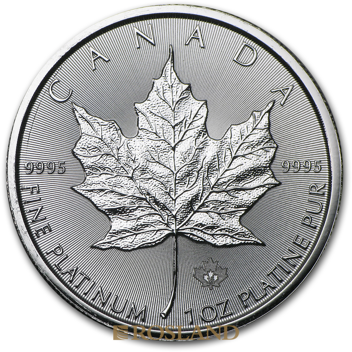 1 Unze Platinmünze Kanada Maple Leaf 2015