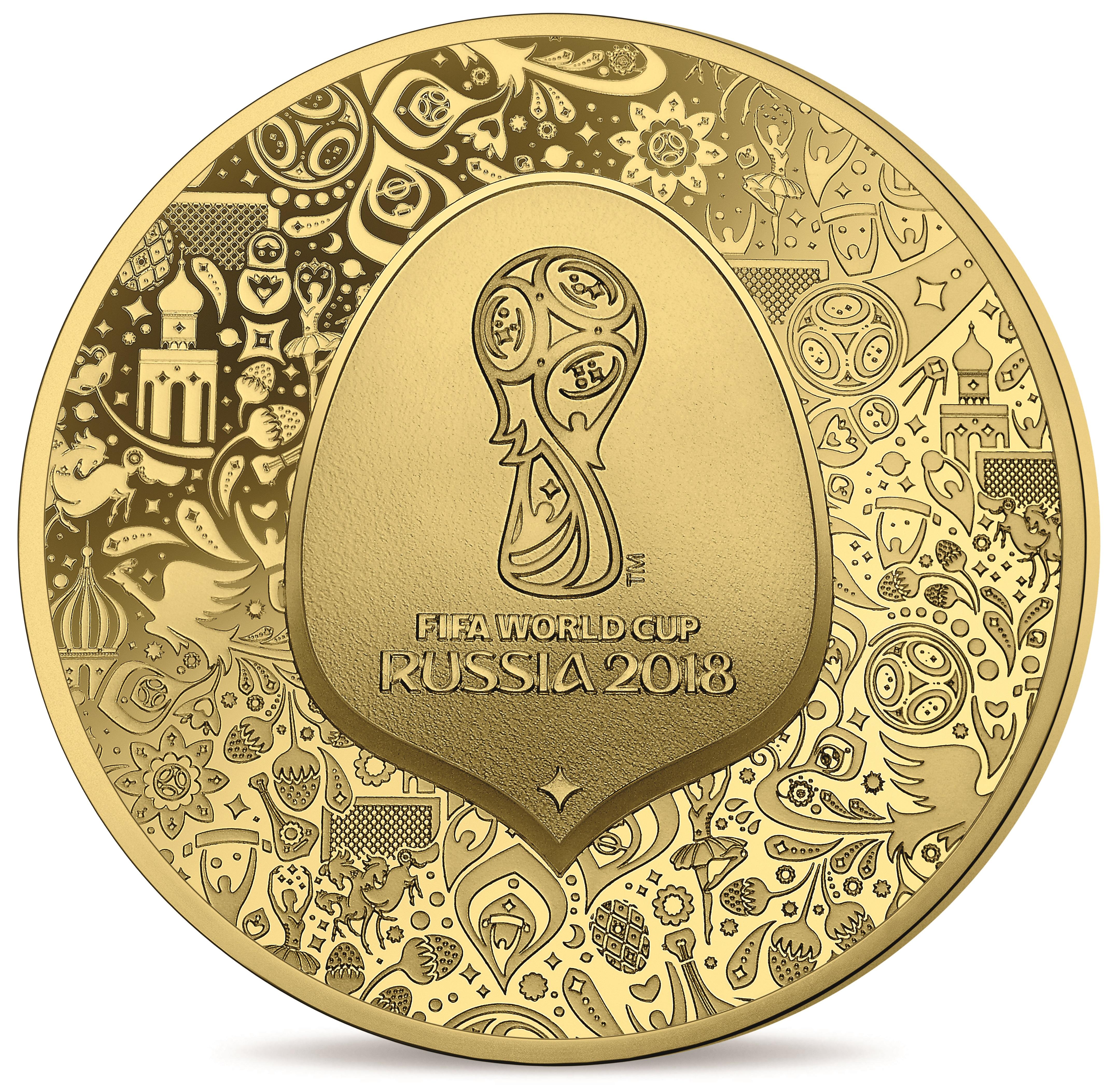 0,5 Gramm Goldmünze FIFA Weltpokal 2018 5€ PP (Box, Zertifikat)
