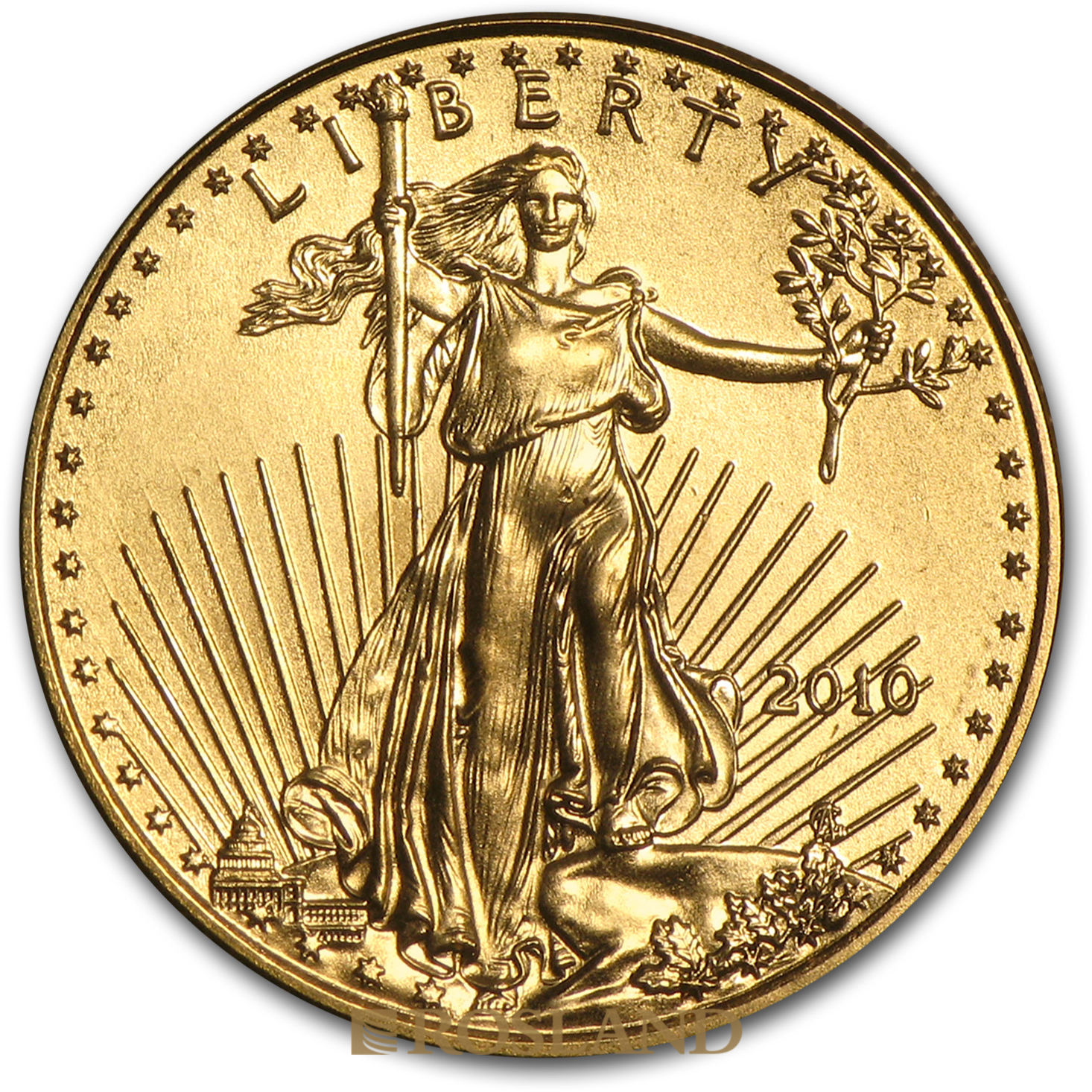 1/10 Unze Goldmünze American Eagle 2010
