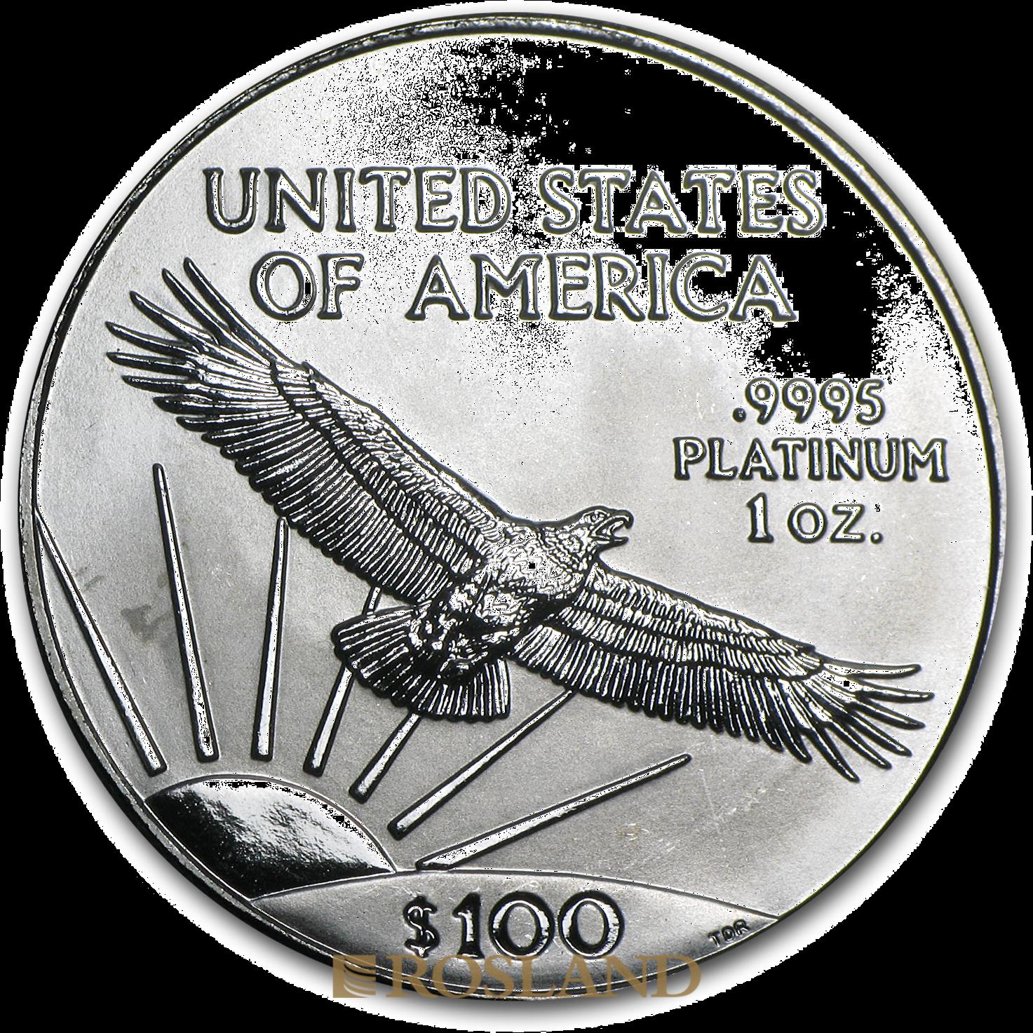 1 Unze Platinmünze American Eagle 1997