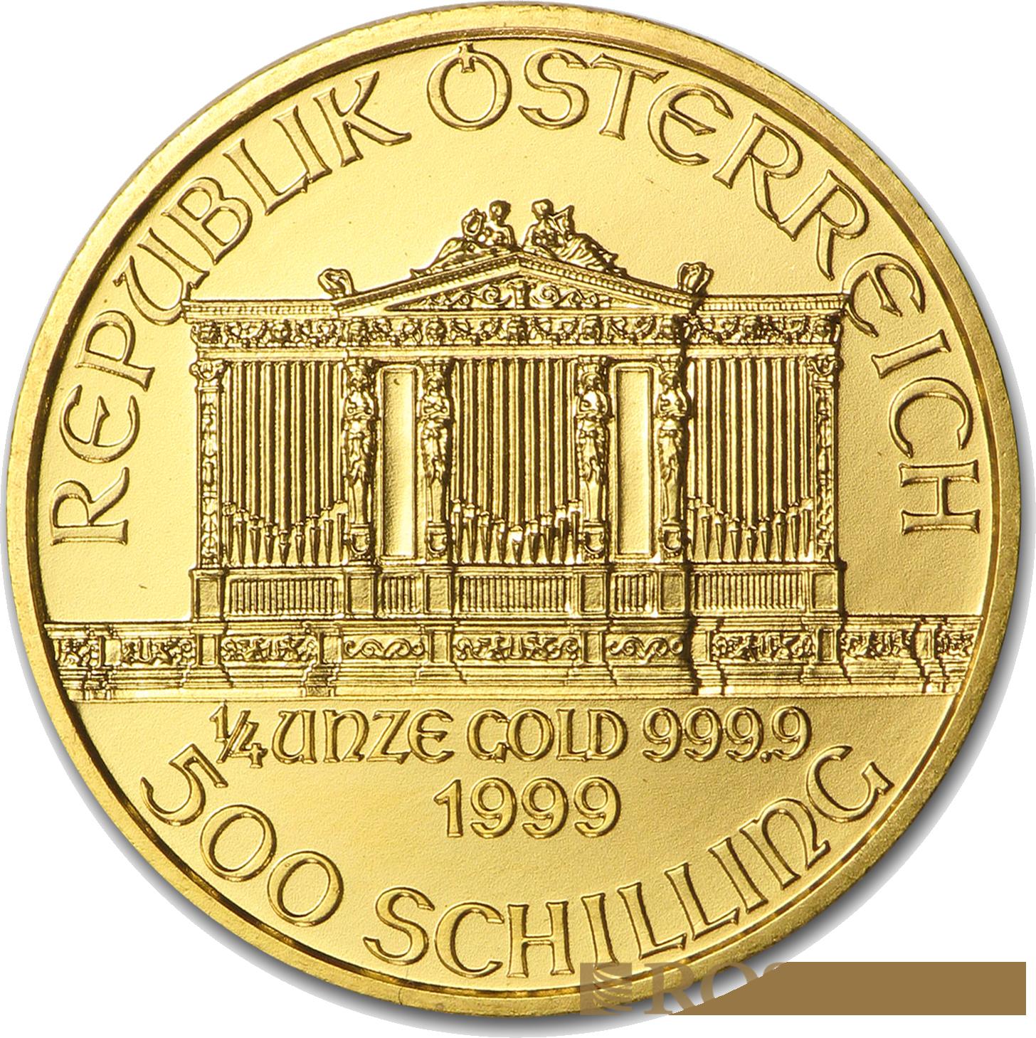 1/4 Unze Goldmünze Wiener Philharmoniker 1999