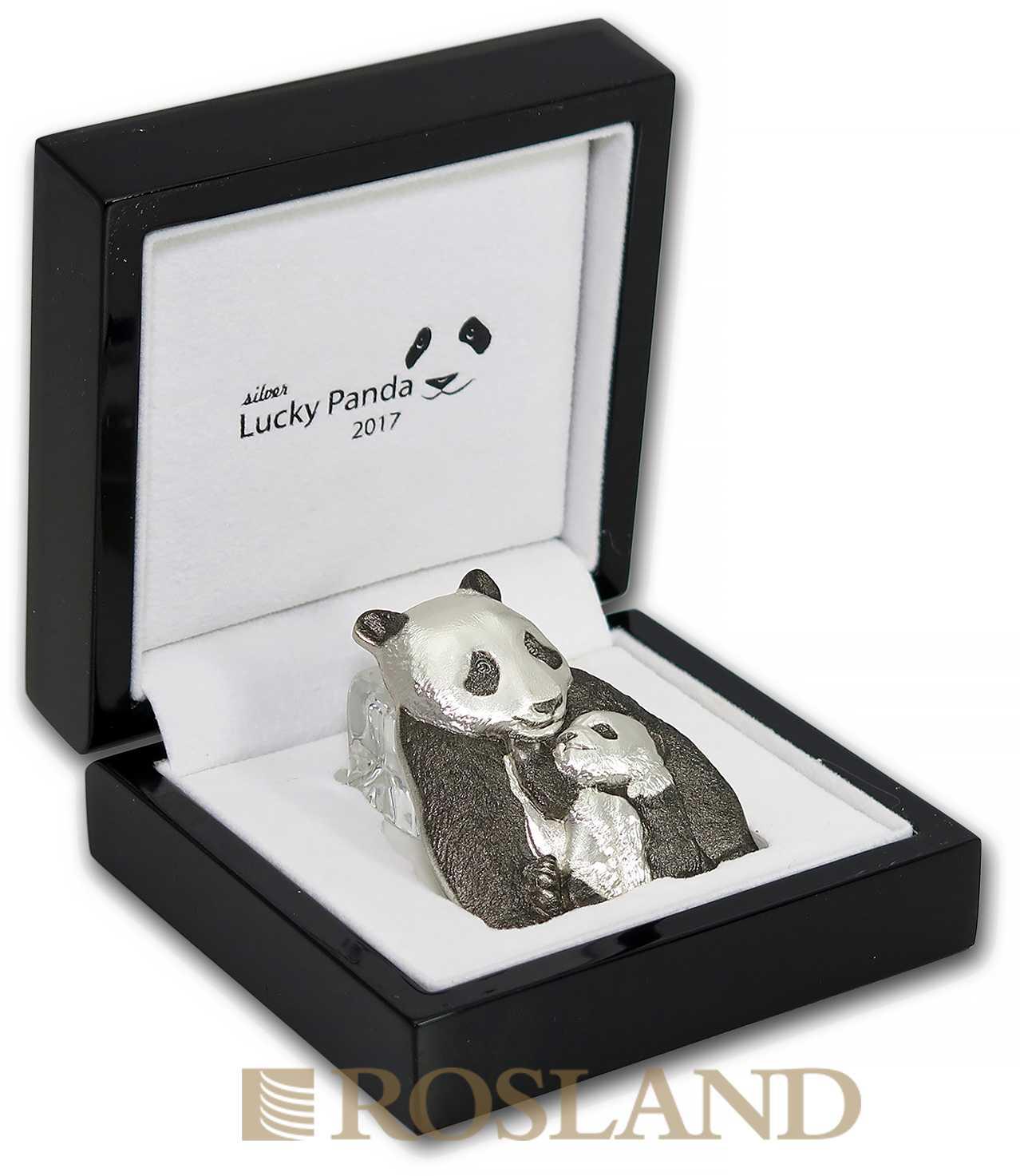 88 Gramm Silbermünze Cook Islands Lucky Panda 2017 (Box, Zertifikat)
