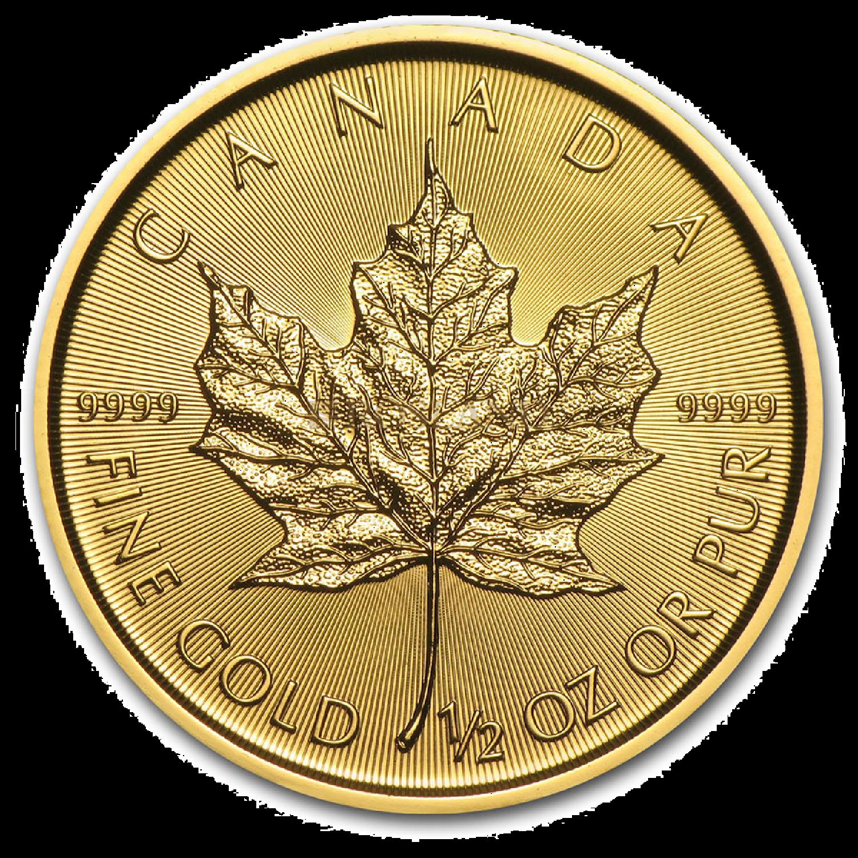 1/2 Unze Goldmünze Kanada Maple Leaf 2021