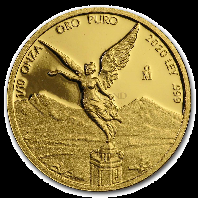 1/10 Unze Goldmünze Mexican Libertad 2020 PP