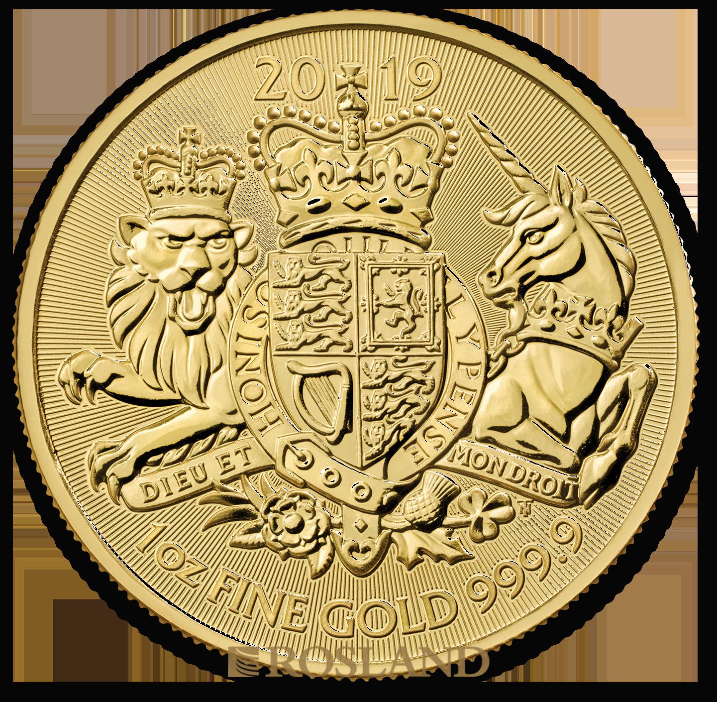 1 Unze Goldmünze Great Britain The Royal Arms 2019