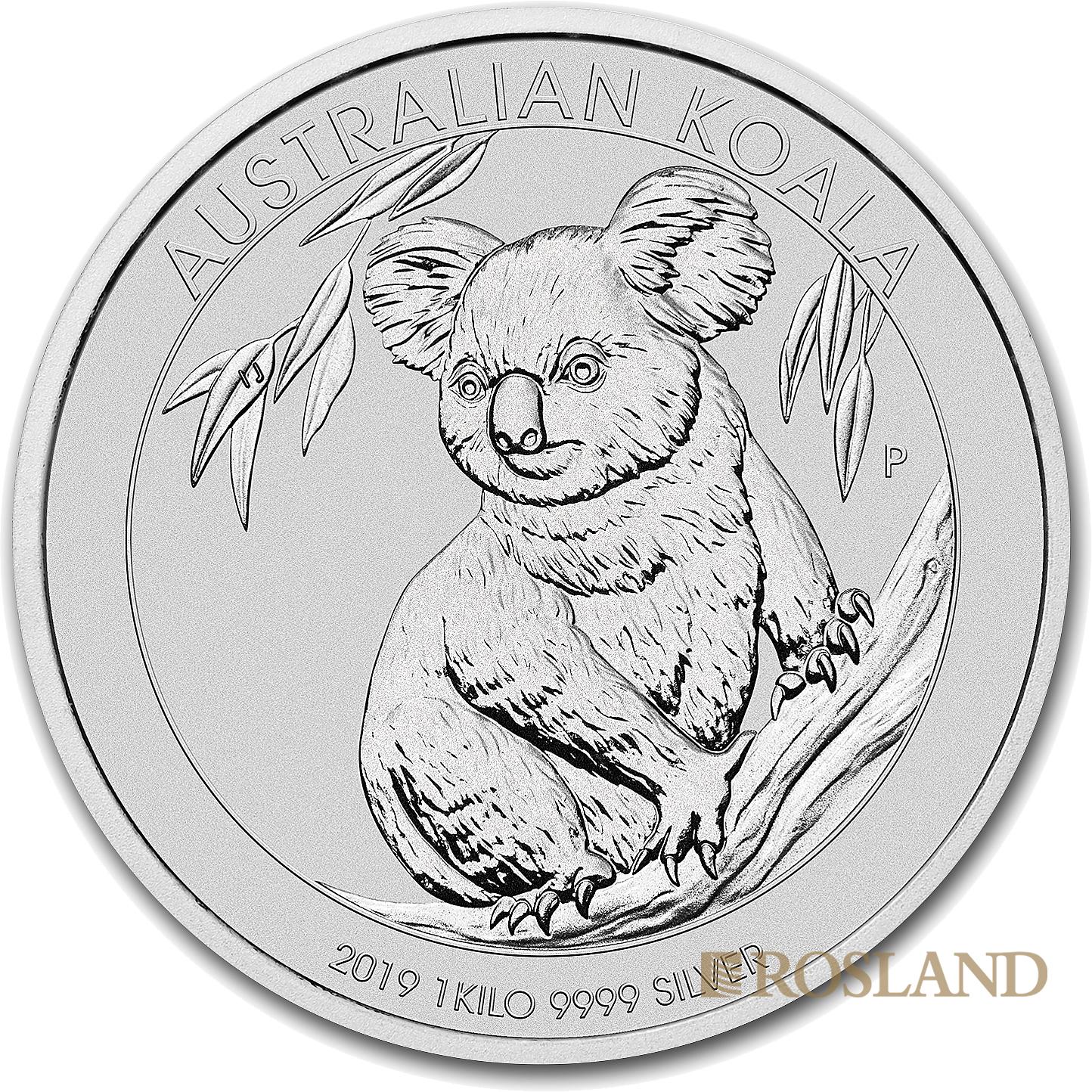 1 Kilogramm Silbermünze Koala 2019 (.9999)