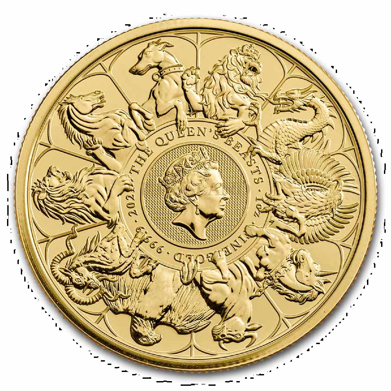 1 Unze Goldmünze Queens Beasts Completer Coin 2021