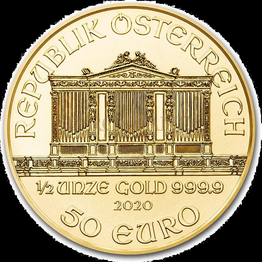 1/2 Unze Goldmünze Wiener Philharmoniker 2020