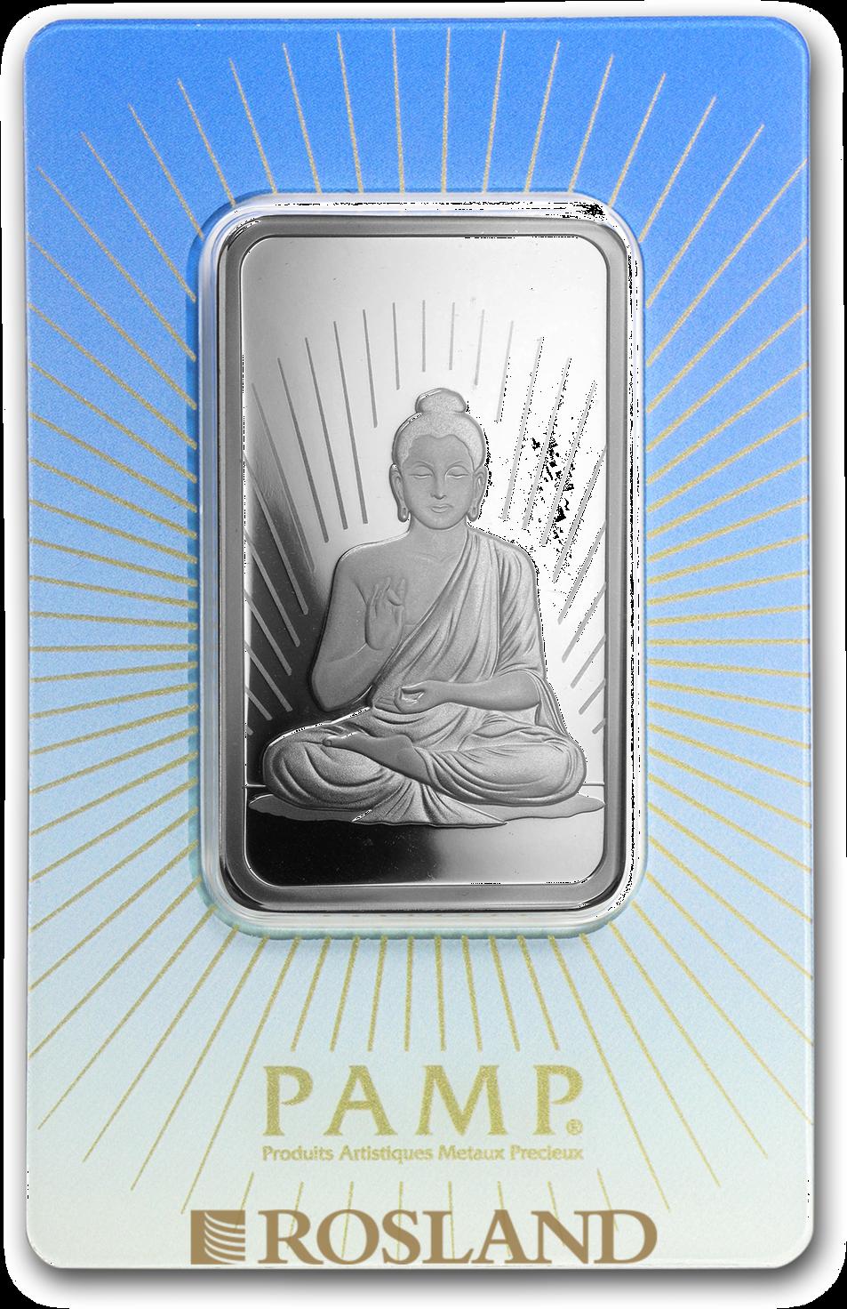 1 Unze Silberbarren PAMP Religion - Buddha