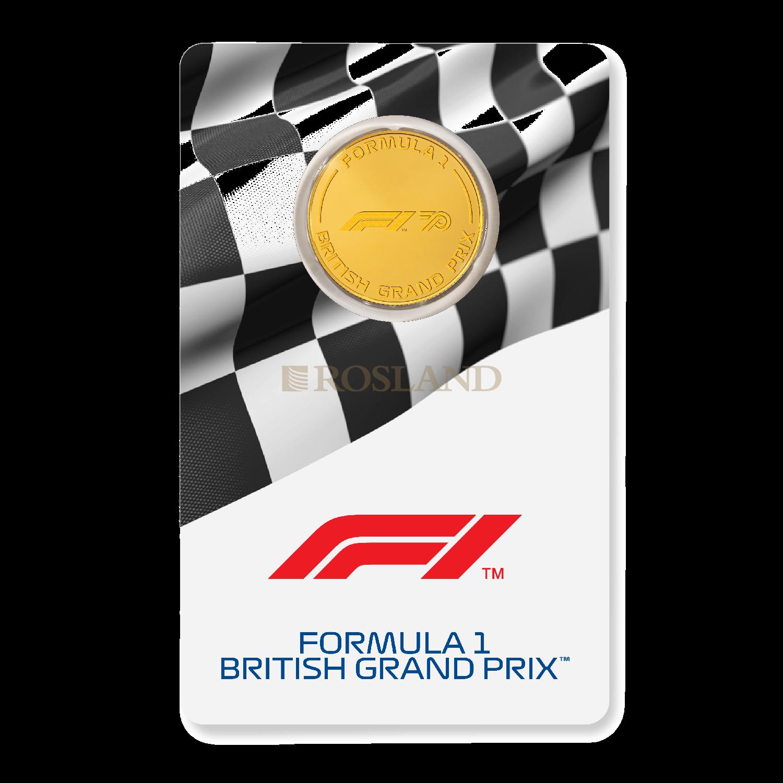 1/4 Unze Goldmünze Formel 1® 70 Jahre - British Grand Prix PP