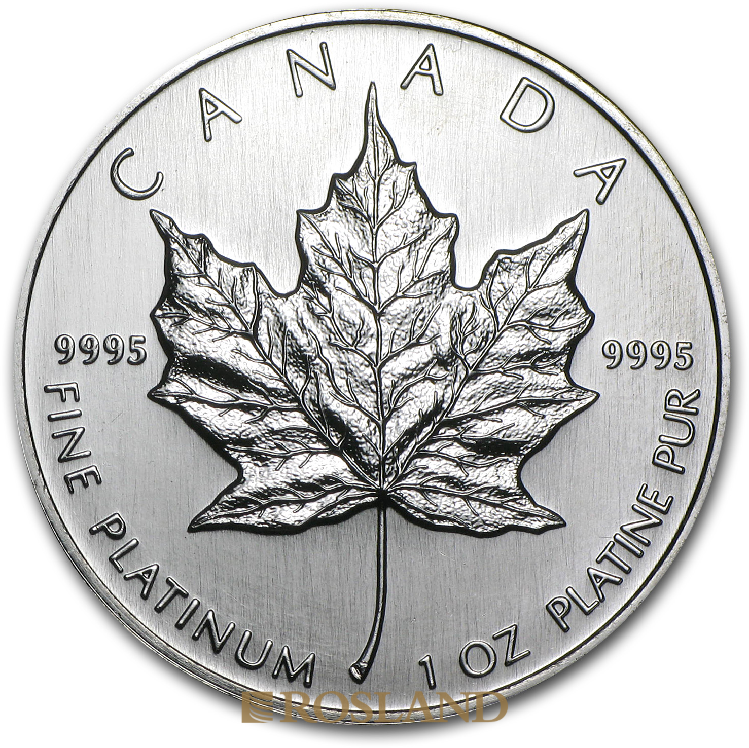 1 Unze Platinmünze Kanada Maple Leaf 1997