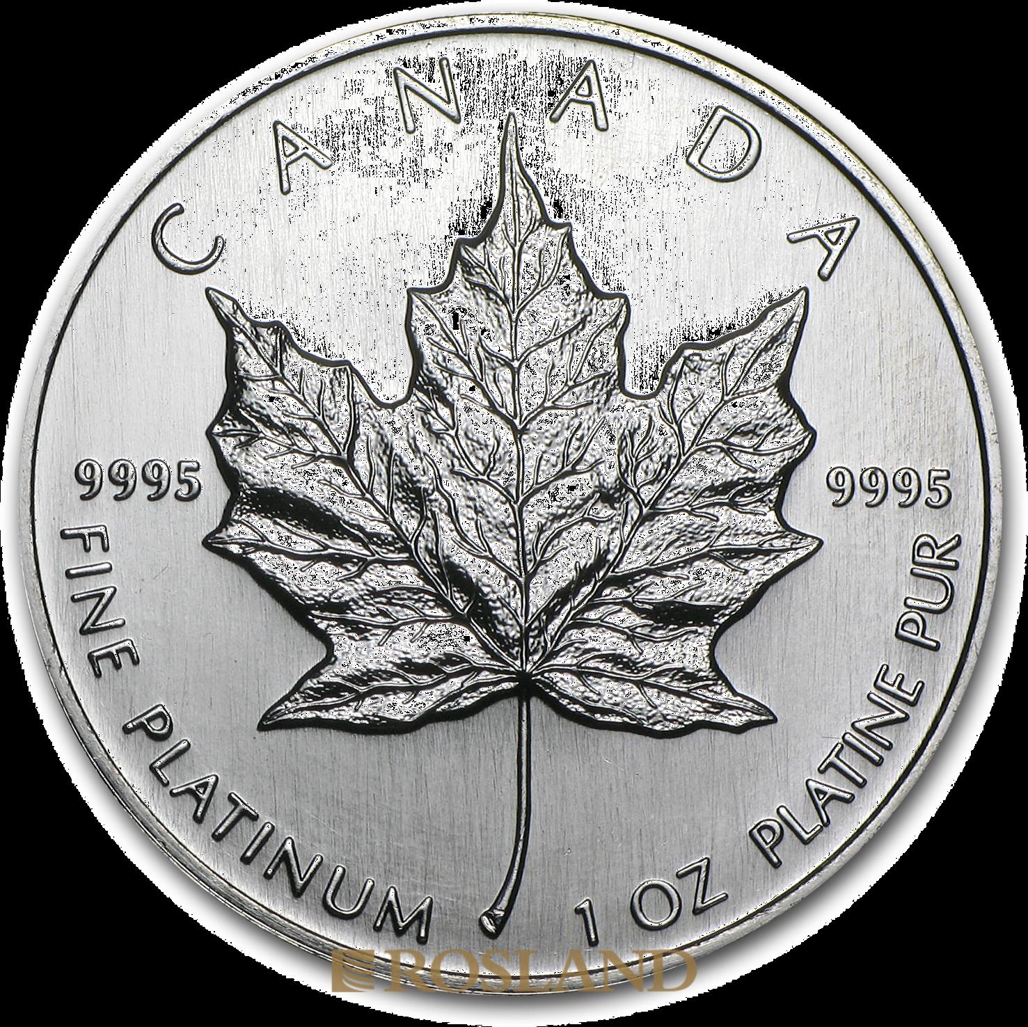 1 Unze Platinmünze Kanada Maple Leaf 1997
