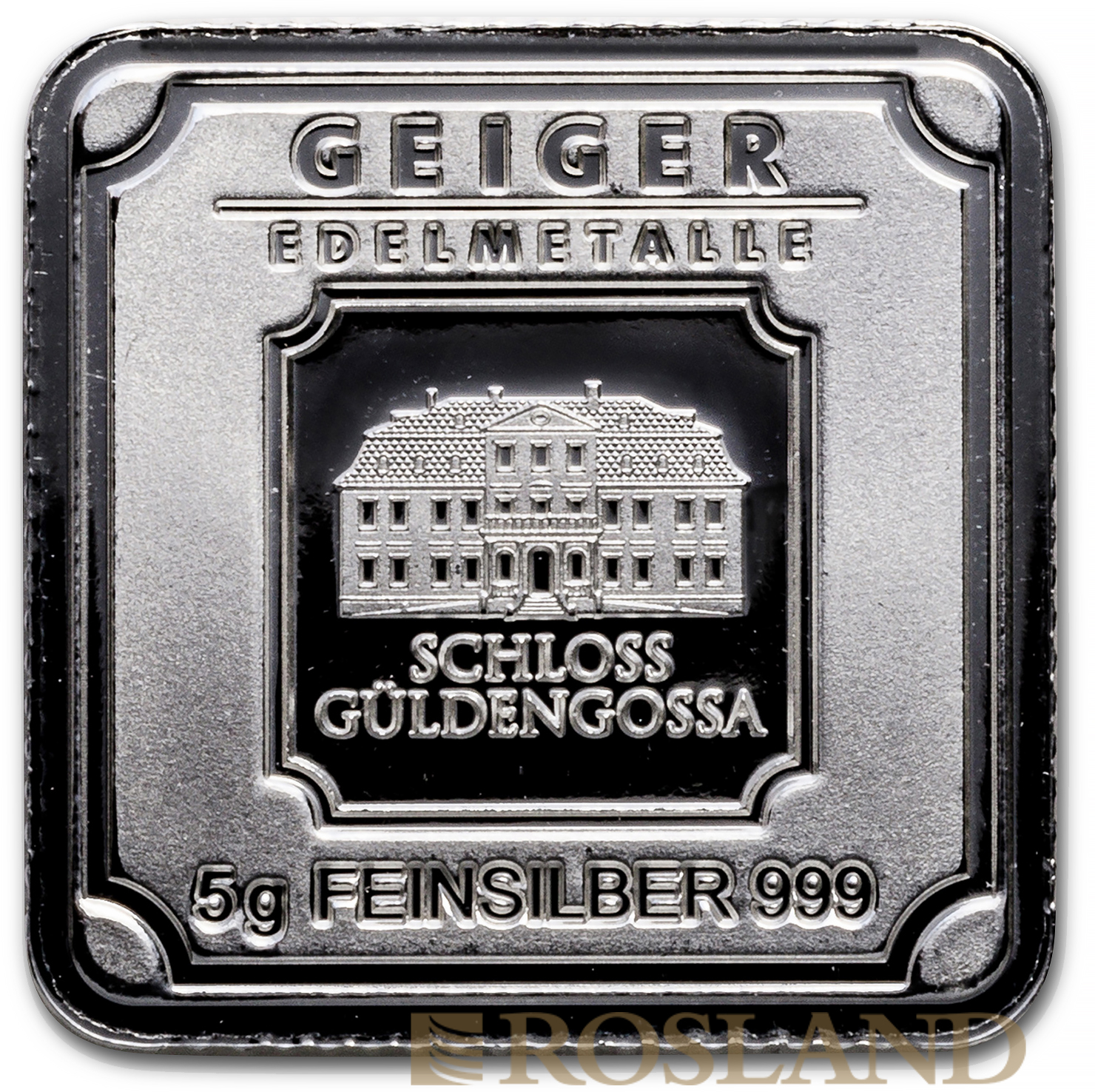 5 Gramm Silberbarren Geiger Edelmetalle Square Series