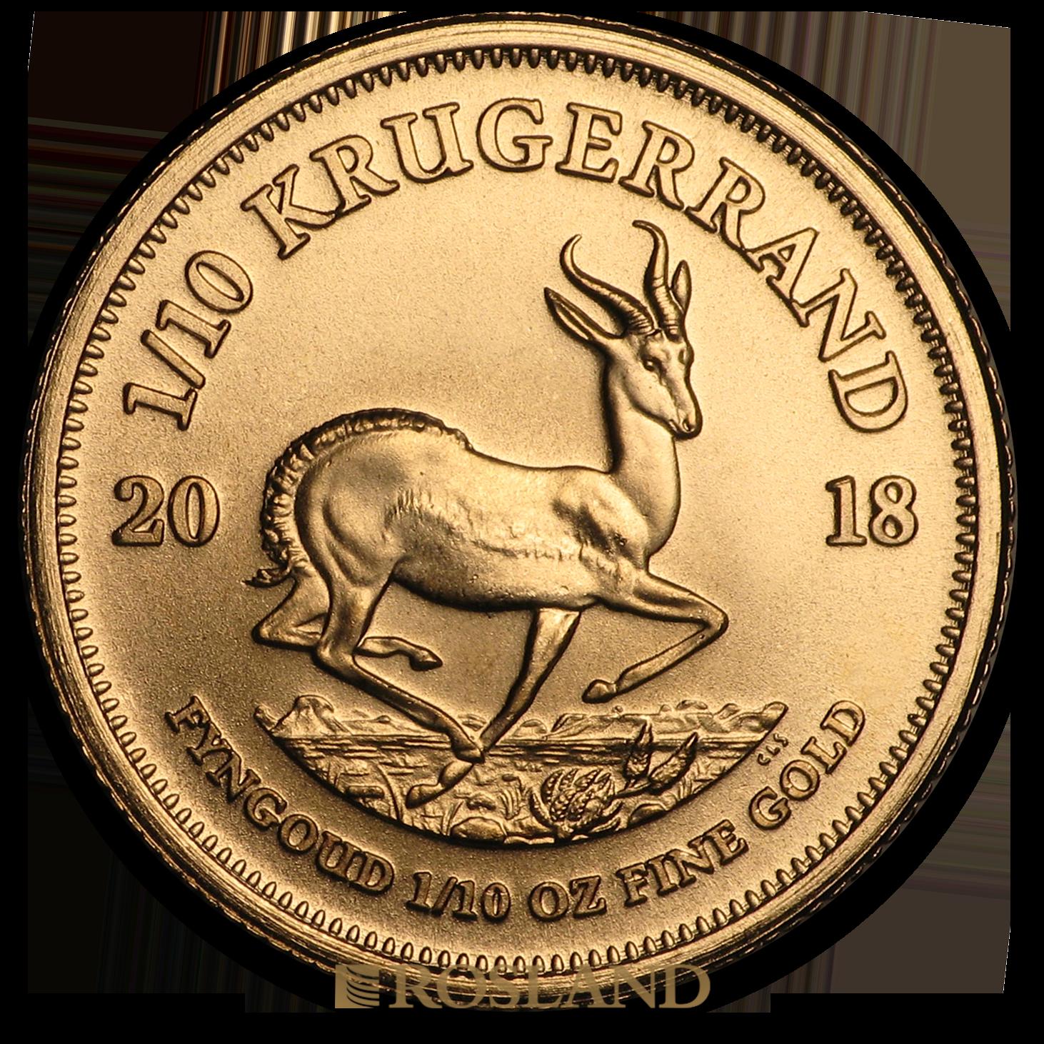 1/10 Unze Goldmünze Krügerrand 2018