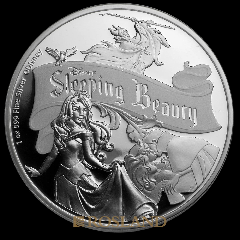 1 Unze Silbermünze Disney® Die Schöne und das Biest 60 Jahre 2019 PP (Box, Zertifikat)