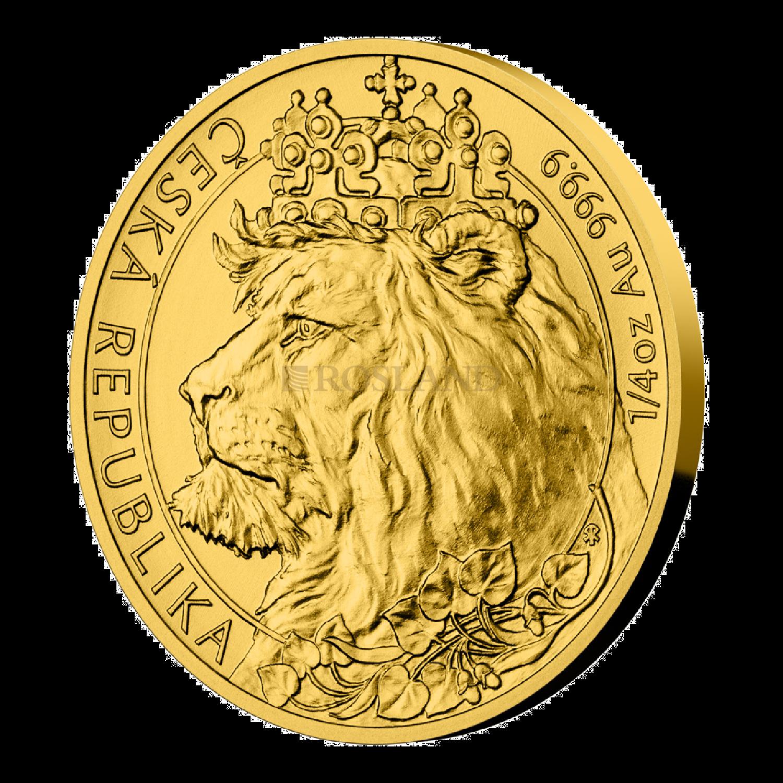 1/4 Unzen Goldmünze Tschechischer Löwe 2021