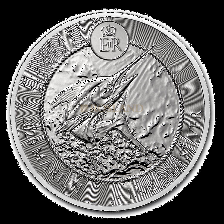 1 Unze Silbermünze Cayman Islands Marlin (Sperrfisch) 2020