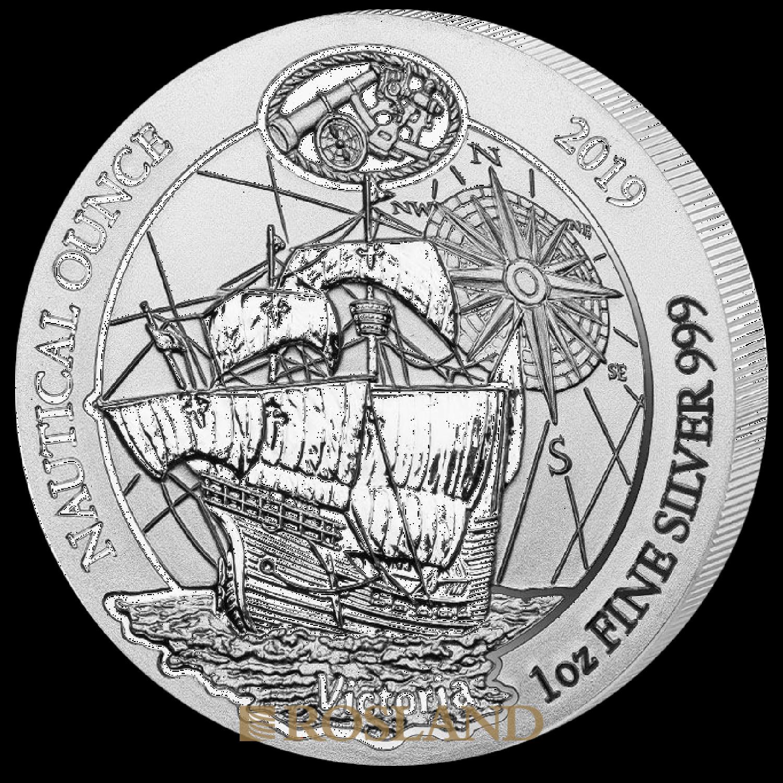 1 Unze Silbermünze Ruanda Nautical Victoria 2019